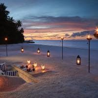 Raffles maldives meradhoo experiencia jantar