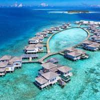 Raffles maldives meradhoo vista aerea overwater villa