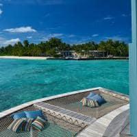 Raffles maldives meradhoo vista pavilhao chegada