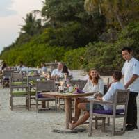 Soneva fushi by the beach restaurant