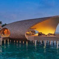 St regis maldives vommuli whale bar exterior