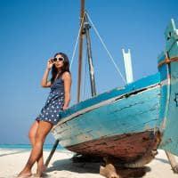 Sun siyam iru fushi maldives barco na praia