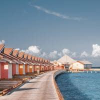 The standard huruvalhi maldives lagoon water villa