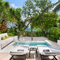 The westin maldives deck beach pool villa