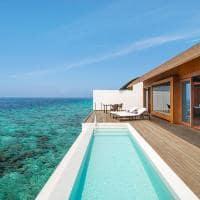 The westin maldives deck overwater pool villa