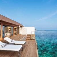 The westin maldives deck overwater villa
