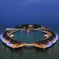 The westin maldives vista aerea noturna