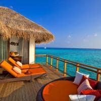 Velassaru maldives water villa deck