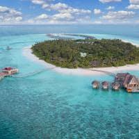 Vista aérea do Anantara Kihavah