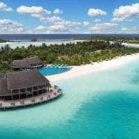Vista aérea do Rede no Anantara Dhigu, Maldivas