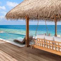 Waldorf astoria maldives overwater villa deck