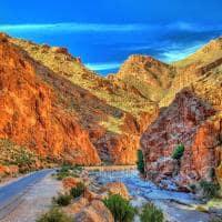 Cânion Todgha Gorge, nas montanhas Atlas - Marrocos.