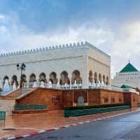 Mausoléu de Mohamed V em Rabat, Marrocos.