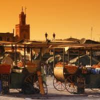 Mercado Jamaa el Fna, Marrakesh, Marrocos
