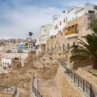 Muros antigos da Medina de Tangier - Marrocos.