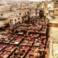 Pacote Marrocos, ponto turístico curtumes, Fez, Marrocos