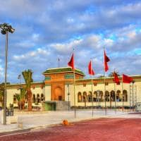 Palácio da Justiça na praça Mohammed V - Casablanca, Marrocos.