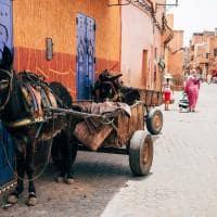 Ruas antigas de Marrakech - Marrocos.