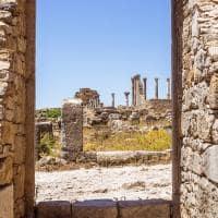 Ruínas da Basílica Romana de Volubilis, patrimônio mundial da UNESCO.
