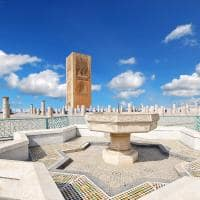 Torre de Hassan, o Mausoléu de Mohamed V - Rabat, Marrocos.