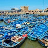 Viagem Marrocos: barcos azuis Porto Essaouira