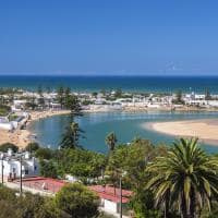 Vista aérea cidade Oualidia, Marrocos