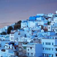 Vista da cidade de Chaouen - Marrocos.