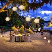 Jantar na praia,The Residence Mauritius