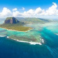 Vista aérea - Ilhas Mauricio