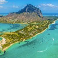 Vista aérea Ilhas Maurício