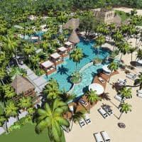 Vista aérea piscina One&Only Le Saint Géran, Mauricio
