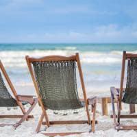 Ahau tulum cadeira na praia