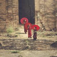 Pequenos monges - Myanmar