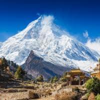 Ponto turístico Monte Manaslu, Himalaia, Nepal