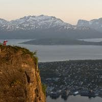Noruega tromso montanha