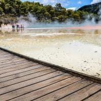Ponto turístico Reserva Térmica Waiotapu, Rotorua, Nova Zelândia