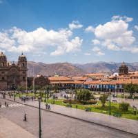 Atração turística Plaza Armas, centro Cusco, Peru