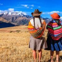 Mulheres locais no vale sagrado