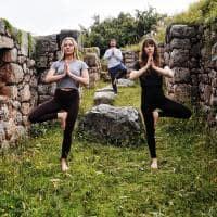 Peru yoga ar livre mountain lodge