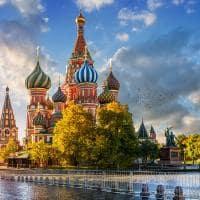 Catedral de São Basílio, na Praça Vermelha - Moscou, Rússia.