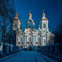 Catedral Nikolsky - São Petersburgo, Rússia.