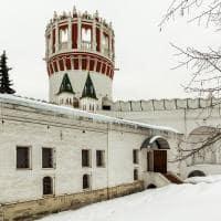 Dia de inverno no convento Novedevichy - Moscou, Rússia.