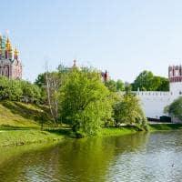 Vista do Convento Novedevichy - Moscou, Rússia.