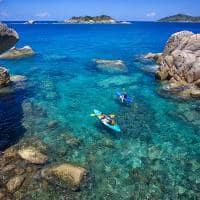 Atividades aquáticas no Six Senses Zil Pasyon, Seychelles