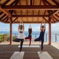 Pavilhão de yoga no Six Senses Zil Pasyon, Seychelles