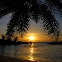 Pôr do sol em Anse Kerlan, Praslin