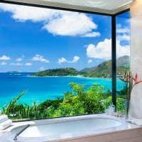 Raffles seychelles ocean view villa banheiro