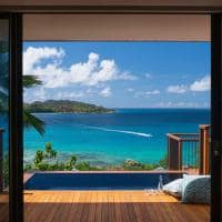 Raffles seychelles ocean view villa piscina
