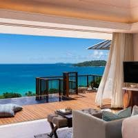 Raffles seychelles pool villa vista