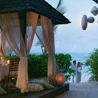 Raffles seychelles sunset cabana